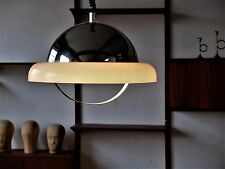 True Vintage Space Age Lamp Ceiling Lamp 70er Glass Shade Lamp Aluminium
