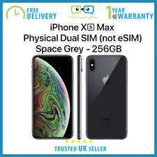 NUOVO Apple iPhone Xs Max 256GB 6.5 pollici Doppia Sim Sbloccato-Grigio-Apple garanzia