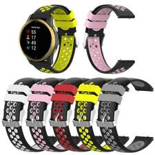 Replacement Wrist Strap 20mm Silicone DualColor Smart Watch Band for Garmin Venu