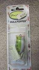 Fred Arbogast Hula Popper Fishing Lure - K7 - 1/4 oz. - Frog Color - New  (E 2)