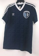 Adidas Mens Size Medium Blue Kansas City Sporting Soccer Jersey