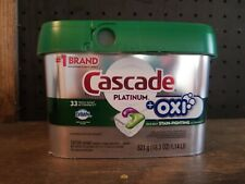 Cascade Platinum + Oxi 33 ActionPacs Dawn Dishwasher Detergent Pods Fresh Scent