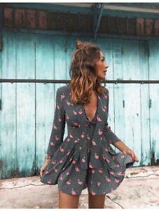 cherrie424: Zara Flamingo Playsuit