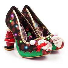 Irregular Choice Mr and Mrs Clause Women's Light up Christmas Santa HEELS UK 7 (eu Size 40)