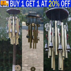 Outdoor Large Wind Copper Bells Chimes Garden Yard Home Decor Tubes Ornament