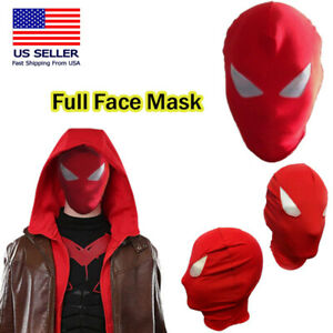 Lycra Spandex Full Face Hood Zentai Mask Halloween Superhero Costume Cosplay OS