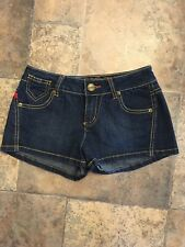 Bongo Jean Shorts Women's Sz 3 Front And Back Pockets, Zipper And Button Closure