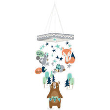 Baby Shower Bear-ly Wait Hanging Decoration ~ Party Supplies Boy Blue Fox Bear