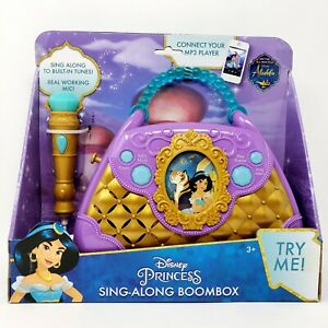 Disney Princess Aladdin Sing Along Boombox with Microphone Connect to MP3 Player