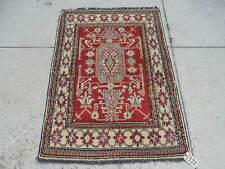 3x5ft. Handmade Afghan Kazak Wool Rug