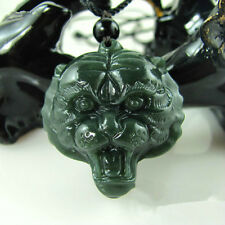 Fashion Natural Hetian Jade Tiger Necklace Pendant Hand-Carved Lucky Amulet Hot