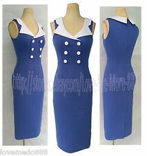 Vintage Celebrity Pinup Wear to Work Party Shift Sheath Bodycon Dresses LARGE#1