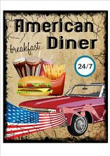 American Diner Vintage Style Advertising Sign Wall Plaque Vintage Sign