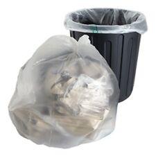 More details for clear refuse sacks plastic polythene bin liners rubbish waste kitchen food 200