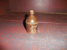 "Vintage Centennial Jug Dated 1876 Brown With Cork 3"" Tall"