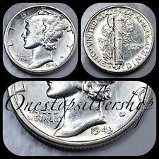 AU 1943-S Mercury Dime - San Francisco Mint - US 90% Silver Coin