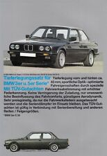Bmw 3 3er e30 5 5er e28 de una altura menor tuning folleto brochure Sheet 80er año 54