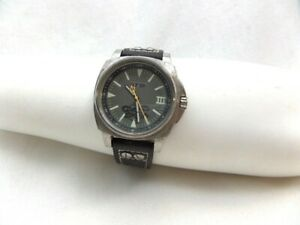 NFW Watch Black Leather All 316L Working Battery