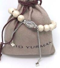 DAVID YURMAN Spiritual Beads Bracelet River Stone Sterling Silver Adjustable