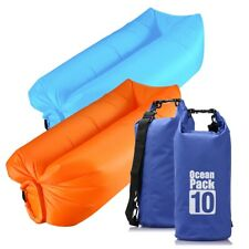 Park, Pool Beach Outdoor Inflatable Sofa Air Bed Easy to Use Camping Accessories