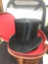Wonderful Victorian Men's Beaver Hair Top Hat with Leather Travel Luggage Case