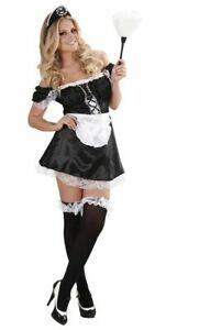 NEW WOMEN NAUGHTY FRENCH MAID FANCY DRESS COSTUME OUTFIT HEN PARTY BEDROOM ADULT
