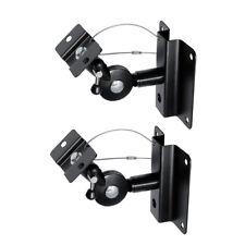 2 x Lautsprecher Wandhalterung Boxen Halter Halterung Wandhalter neigbar drehbar