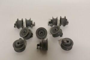Korbrollen Oberkorb Bosch Siemens Constructa grau 10 Stück Spülmaschine 00165313