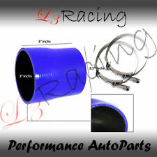 """BLUE 3""""-2.5"""" 76-63mm 3-ply Silicone Reducer Hose Turbo Intake Intercooler Nis"""