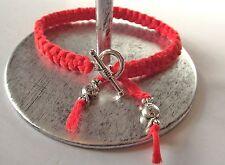 Bracelet noué Rouge * fermoir Rond * Enfant * perles bonbons * Cadeau Petit Prix