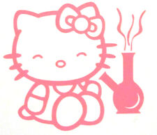 "Mello Hello Kitty Smokin' Decal ***Hello Kitty Pink*** 3"" x 2 3/4"" - Sticker"