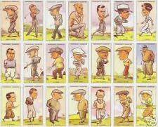 1931 Churchman golf tobacco card collage print