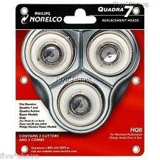 NEW PHILIPS NORELCO HQ6 HQ 6 QUADRA Shaver/Razor Replacement HEADS SET