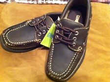 NWT~GYMBOREE~CASUAL~BOAT SHOE~9 YOUTH~BROWN~DRESS~HOLIDAY~OXFORDS