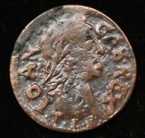 1666 ION CASIMIR POLAND Lithuania SOLIDUS SCHILLING COIN - HIGH GRADE