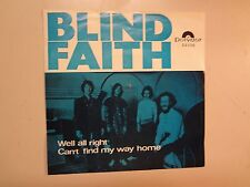 "BLIND FAITH: (w/Eric Clapton-S.Winwood)Well All Right-Norway 7"" 1969 Polydor PSL"