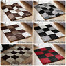 SMALL LARGE 5CM THICK SOFT PILE LOW COST BROWN BLACK GREY BOX SALE SHAGGY RUGS
