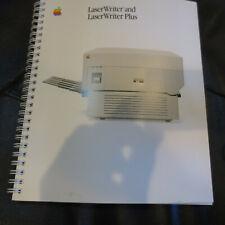 Vintage Apple 'LaserWriter & LaserWriter Plus' user manual, 1986