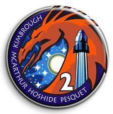 SpaceX Pesquet Crew Dragon 2 nasa space ISS Badge 38mm Button Pin métal