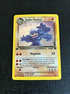 Pokemon TCG / Dunkles Machomei Holo10/82 / Team Rocket / 1. Edition / Deutsch