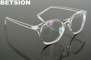 Vintage Clear Transparent Eyeglass Frames Full Rim Glasses UV400 protection