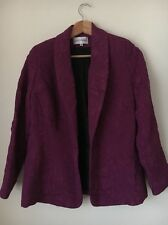 Gray And Osbourn Size 10 Fuchsia Textured Lined Jacket <T9609