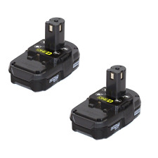 NEW 2 RYOBI ONE+ 18V 18 VOLT COMPACT LITHIUM-ION BATTERIES P102 (BATTERIES ONLY)