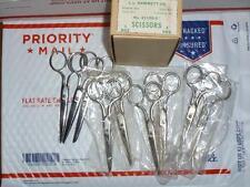 """9 Pairs vintage Scissors 5"""" School Kleencut and  (Circle K ? Kleencut ?)"""