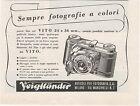 Pubblicità 1941 VOIGTLANDER FOTO VITO PHOTO reklame old advert werbung publicitè