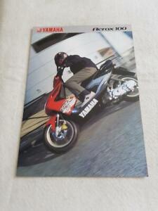 YAMAHA AEROX 100 Motorcycle Sales Brochure 2001 #35C-YQ100-01UK