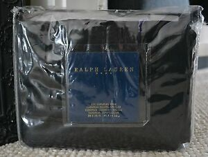 RARE RALPH LAUREN HOME BLUE LABEL BEXLEY EURO PILLOW SHAM(1) ($200.) ~ BLACK