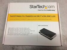 Startech.com Travel A/V: 3 in 1 DisplayPort over USB-C to VGA, HDMI or DVI