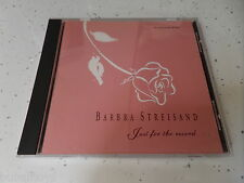 Barbra Streisand - Just For The Record 12 Track PROMO CD 1991 Columbia RARE!