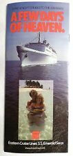 ss Emerald Seas . Eastern Cruise Lines Fold Out Brochure Ship Deck Plans Photos